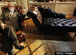 A wax likeness of Austrian founder of the psychoanalysis Sigmund Freud sits in Berlin's Madame Tussaud's wax museum, during a press preview of the museum on July 3, 2008. The museum opens to the public on July 5. AFP PHOTO DDP/ CLEMENS BILAN GERMANY OUT (Photo credit should read CLEMENS BILAN/AFP/Getty Images)